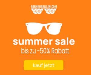-50% auf ausgewählte Sonnebrillen