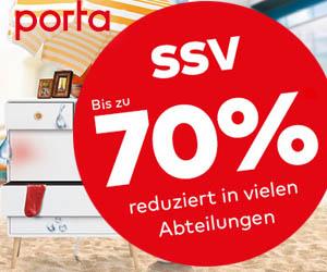 SSV 70% reduziert bei Porta