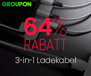 64% Rabatt: 3-in-1 Ladekabel