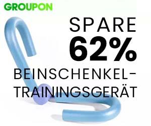 62% gespart: Beinschenkel-Trainingsgerät