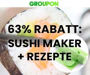 63% Rabatt: Sushi-Maker Set + Rezepte