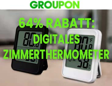64% Rabatt: Digitales Zimmer-Thermometer