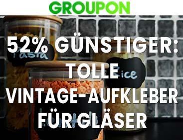 52% günstiger: Tolle Vintage-Aufkleber für Gläser