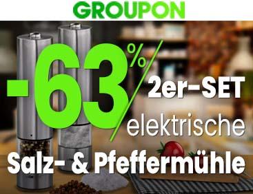 -63% | 2er-Set elektrische Salz- und Pfeffermühle