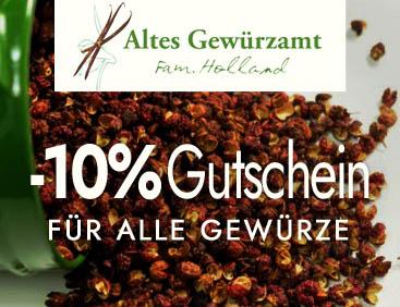 -10% Gutschein für alle Gewürze