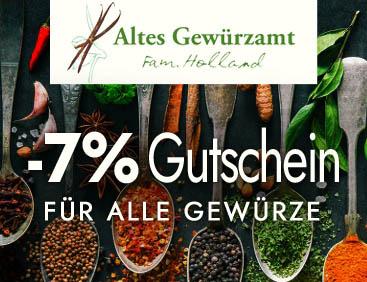 -7% Gutschein für alle Gewürze
