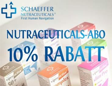 10% Rabatt auf Nutraceuticals-Abo
