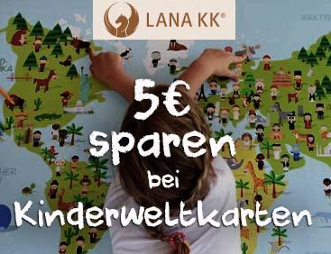 5 € sparen bei Kinderweltkarten