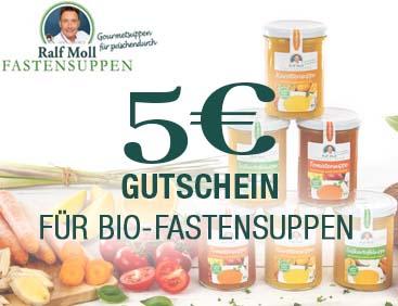 5 € Gutschein für Bio-Fastensuppen