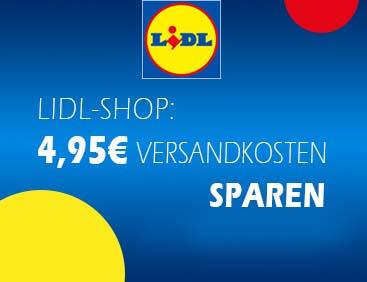 LIDL-Shop: 4,95 € Versandkosten sparen
