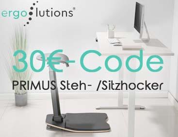 30 € Code: PRIMUS Steh/Sitzhocker