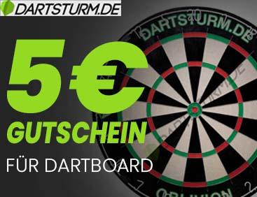 5 € Gutschein für Dart-Board