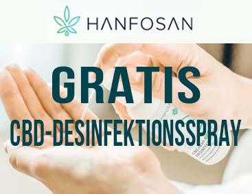 GRATIS CBD Hand Desinfektionsspray
