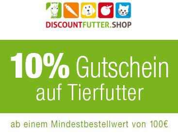 10% Gutschein bei Discountfutter.shop