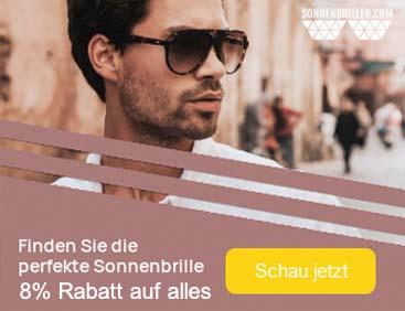 Sonnenbrillen: 8% Rabatt auf ALLES