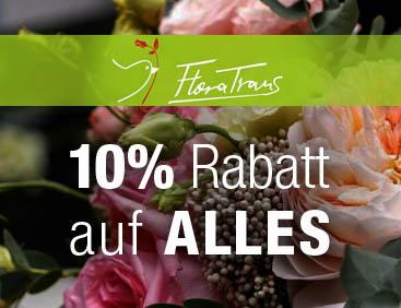 Blumen: -10% UND Gratis-Zugaben