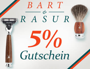 5% Gutschein: Alles rund um Bart-Pflege