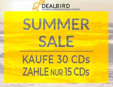 Kaufe 30 CDs zahle nur 15 CDs