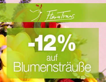-12% auf Blumensträuße