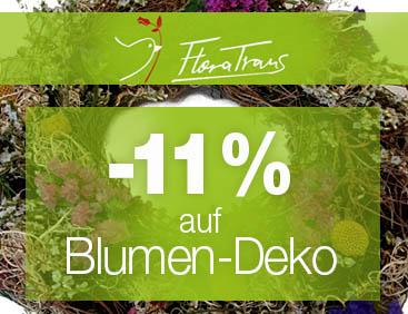 11% Gutschein auf Blumen-Deko