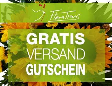 Blumen: GRATIS-Versand-Gutschein