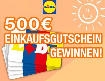Lidl: Jetzt 500 € gewinnen
