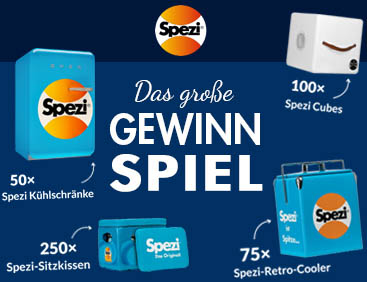 Spezi-Kühlschrank u.v.m gewinnen