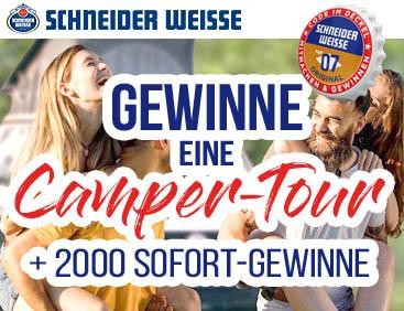 Camper-Tour Hauptgewinn + 2.000 Sofort-Gewinne